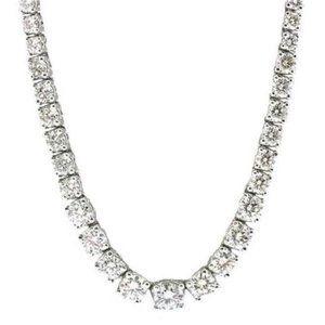 "Jewelry - Diamonds necklace tennis graduated riviera 16"" 9 c"